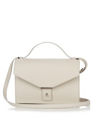 Pb Ab31 Leather Cross Body Bag Light Grey
