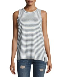 Current Elliott The Muscle Striped Tee Blue Blue Pattern