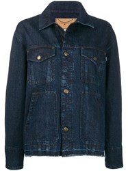 Mcq By Alexander Mcqueen Earth Force Sound Denim Jacket Blue