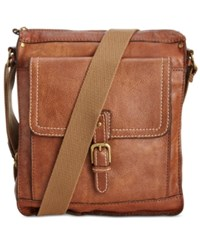 Patricia Nash Tuscan Leather North South Crossbody Rust