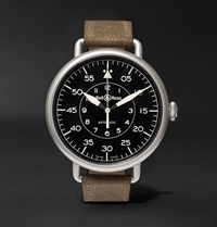 Bell And Ross Ww1 92 45Mm Steel Distressed Suede Watch Black