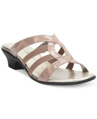 Karen Scott Emet Slide Sandals Only At Macy's Women's Shoes Mocha