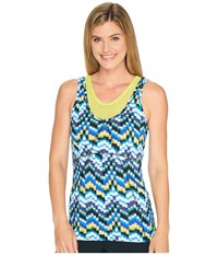 Soybu Trace Tank Top Amp Wave Women's Sleeveless Blue