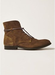 Topman Brown Suede Mycroft Lace Boots