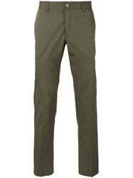 Moncler Slim Chino Trousers Green