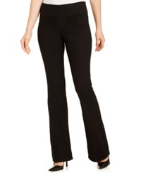 Style And Co. Flare Leg Pull On Jeans Black Wash Only At Macy's