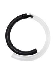 Monies Contrast Tube Choker Black