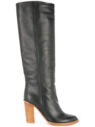Ports 1961 Block Heel Knee High Boots Black