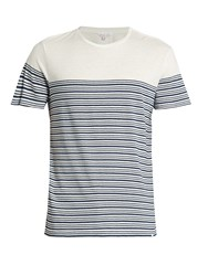 Orlebar Brown Sammy Breton Striped T Shirt Navy White