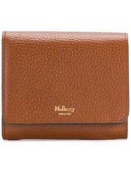 Mulberry Pebbled Logo Purse Brown
