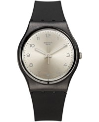 Swatch Unisex Swiss Exotic Charm Black And Gray Double Layer Silicone Strap Watch 34Mm Gb287