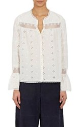 Ulla Johnson Eyelet Inga Blouse White
