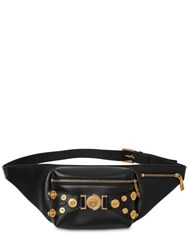 Versace Tribute Leather Belt Bag Black