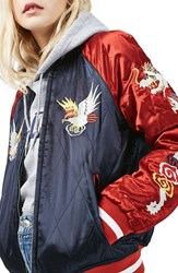 Topshop Women's Reversible Baseball Jacket