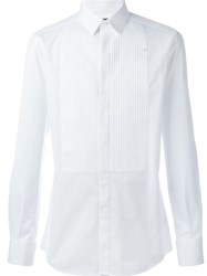 Dolce And Gabbana Pleated Front Shirt White