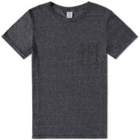 Velva Sheen Twist Pocket Tee Black
