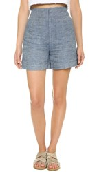 Derek Lam High Waisted Shorts Denim
