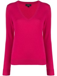 Theory Cashmere Knitted V Neck Jumper 60
