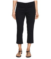 Nydj Petite Alina Capri Jeans In Colored Denim Black Women's Jeans