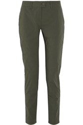 Tomas Maier Cotton Blend Tapered Pants Army Green