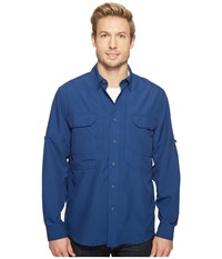 Royal Robbins Expedition Chill Long Sleeve Twilight Blue Men's Long Sleeve Button Up Multi