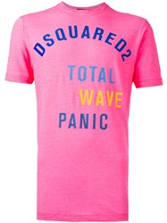 Dsquared2 Fluo T Shirt Pink Purple
