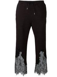 Mcq By Alexander Mcqueen Lace Insert Cropped Trousers Black
