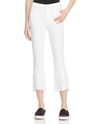 Mother Insider Crop Step Fray Jeans In Glass Slipper