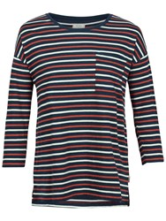 Fat Face Harriet Stripe Top Navy