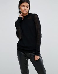 Y.A.S Lara Long Sleeve Knit Black