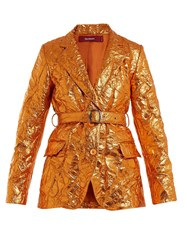 Sies Marjan Terry Crinkled Finish Blazer Orange