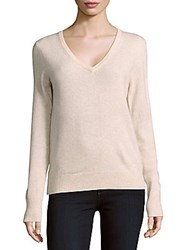Equipment Cecile Long Sleeve Cashmere Top Oatmeal