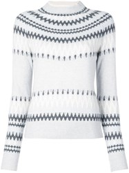 Adam By Adam Lippes Intarsia Knit Jumper Grey