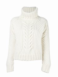 Tommy Hilfiger Chunky Cable Knit Jumper White