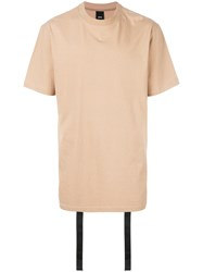 Damir Doma Strap Detail T Shirt Nude And Neutrals