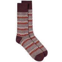 Anonymous Ism Zig Zag Links Crew Sock Red