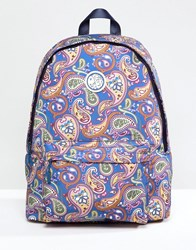 Pretty Green Nylon All Over Paisley Backpack In Multi Vintage Paisley