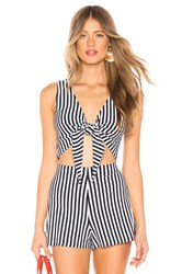 Mds Stripes Clair Tie Tank Navy