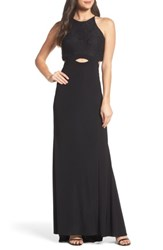 Blondie Nites Women's Colorblock Lace Gown