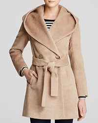 Trina Turk Grace Hooded Alpaca Coat Fawn
