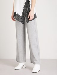 Moandco. Contrast Drawstring Cotton Blend Jogging Bottoms Heather Grey
