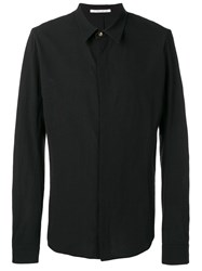 Individual Sentiments Woven Basic Shirt Black