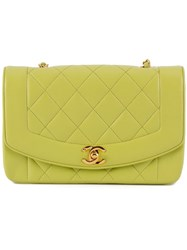 Chanel Vintage Quilted Shoulder Bag Green
