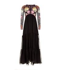 Temperley London Embroidered Top Gown Female Black