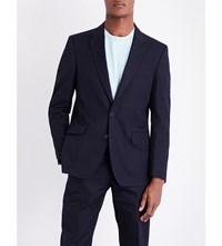 Gieves And Hawkes Regular Fit Cotton Poplin Jacket Navy