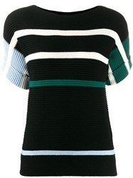 Paul Smith Ps Striped Knit Top Black