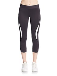 Rebecca Minkoff Avery Cropped Performance Leggings Black