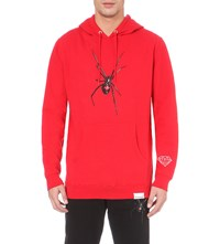 Diamond Supply Co. Widow Spider Cotton Jersey Hoodie Red