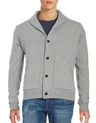 Velvet By Graham And Spencer Cotton Blend Cardigan Heather Grey