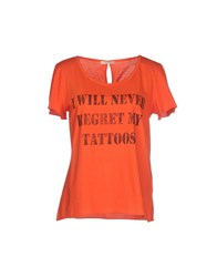 Erika Cavallini Semi Couture Erika Cavallini Semicouture Topwear T Shirts Women Orange